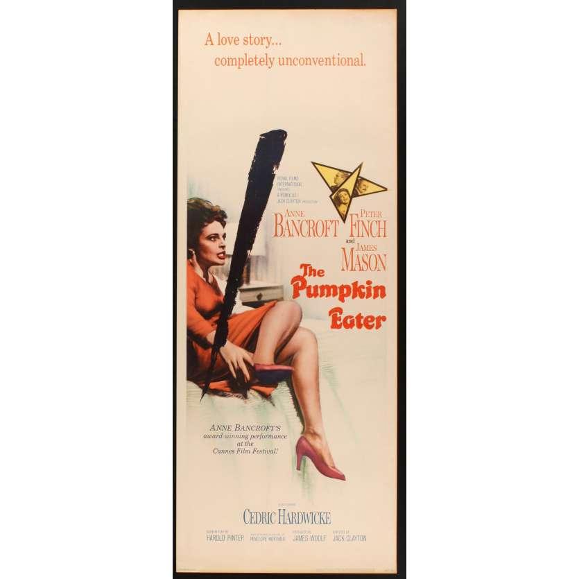 PUMPKIN EATER US Movie Poster Très bon à Excellent état (C7) 14x36 - 1964 - Peter Finch, Anne Bancroft