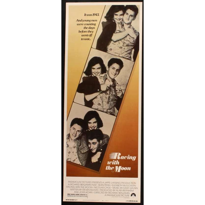 RACING WITH THE MOON US Movie Poster Très bon à Excellent état (C7) 14x36 - 1984 - Richard Benjamin, Sean Penn
