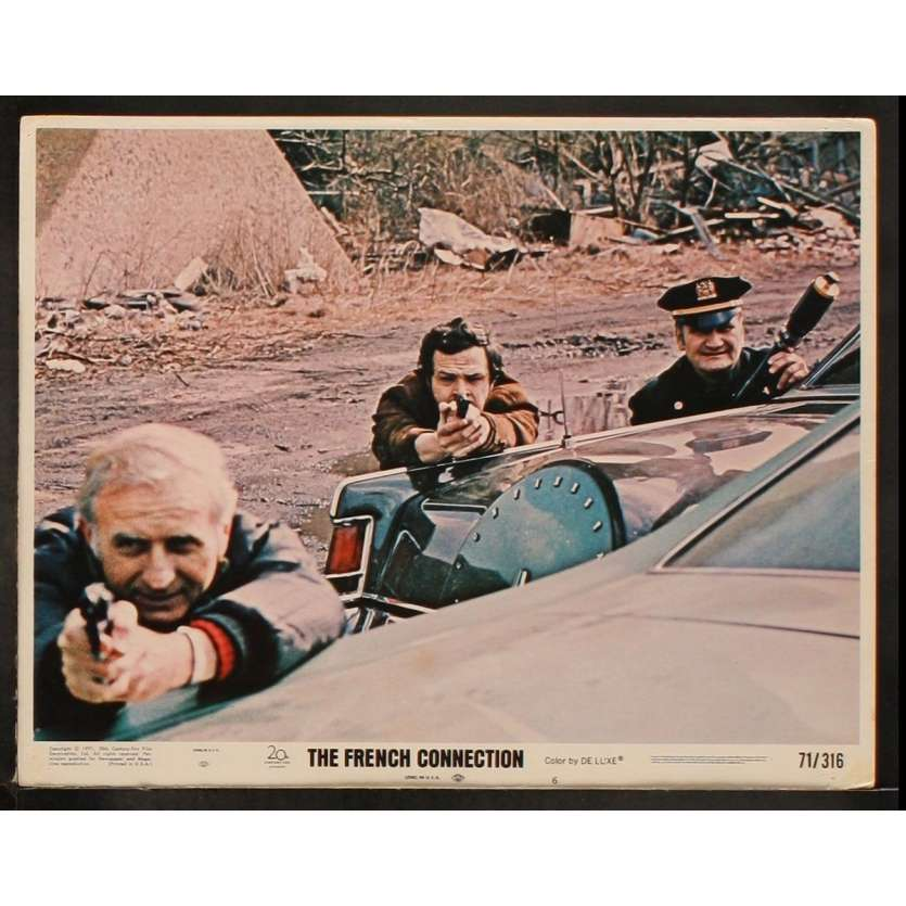 FRENCH CONNECTION US Lobby Card 6 11x14 - 1971 - Willam Friedkin, Gene Hackman, Roy Sheider