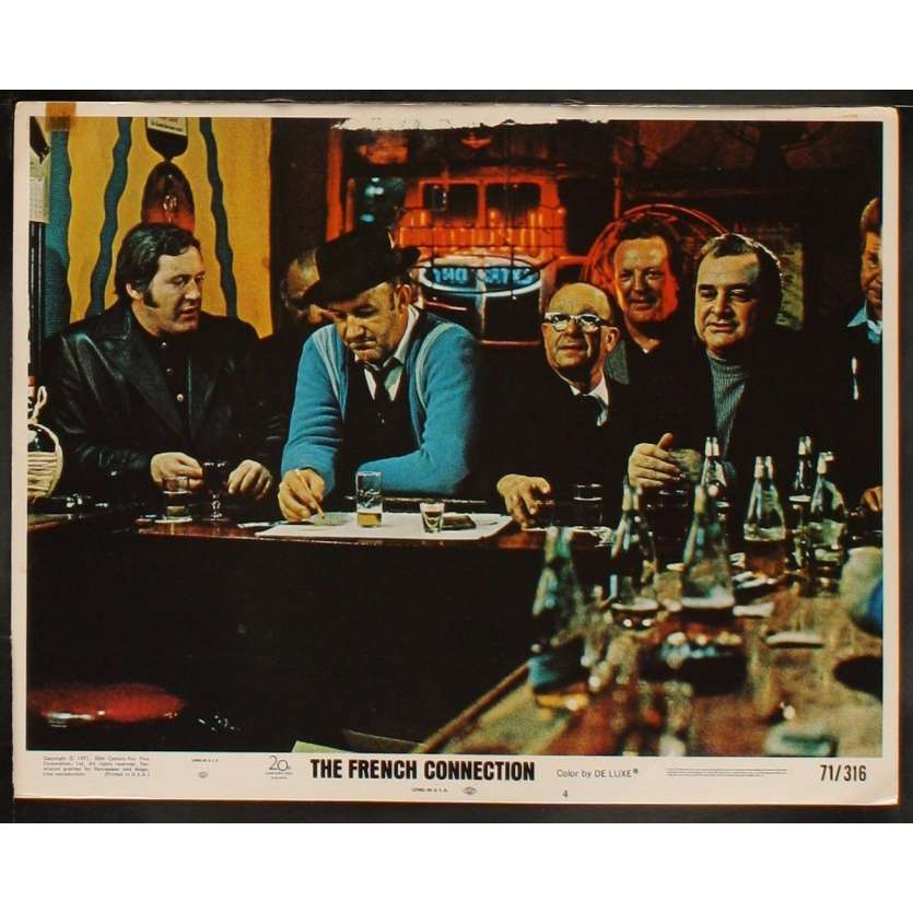 FRENCH CONNECTION US Lobby Card 4 11x14 - 1971 - Willam Friedkin, Gene Hackman, Roy Sheider
