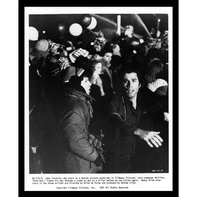 BLOW OUT Photo de presse 2 20x25 - 1981 - John Travolta, Brian de Palma
