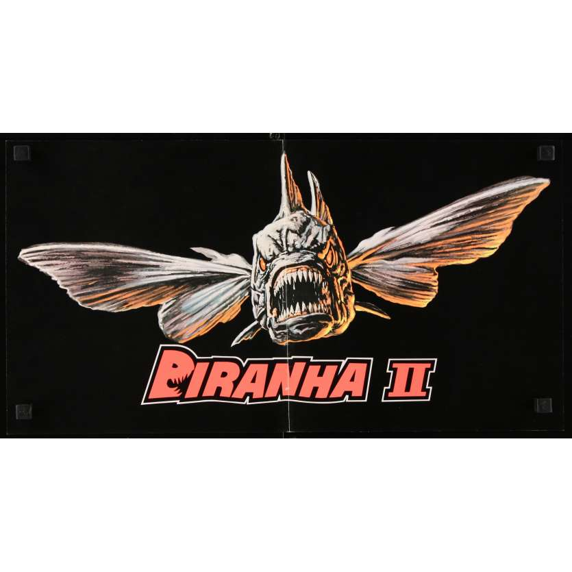 PIRANHAS II US Standee 10x20 - 1981 - James Cameron, Lance Henriksen