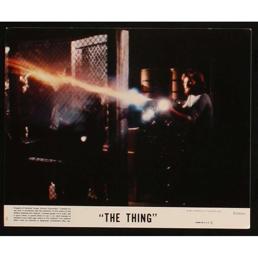 THE THING US Lobby Card 5 8x10 - 1982 - John Carpenter, Kurt Russel