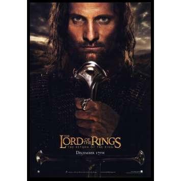 LE SEIGNEUR DES ANNEAUX - LE RETOUR DU ROI Affiche de film A 28x43 - 2003 - Viggo Mortensen, Peter Jackson
