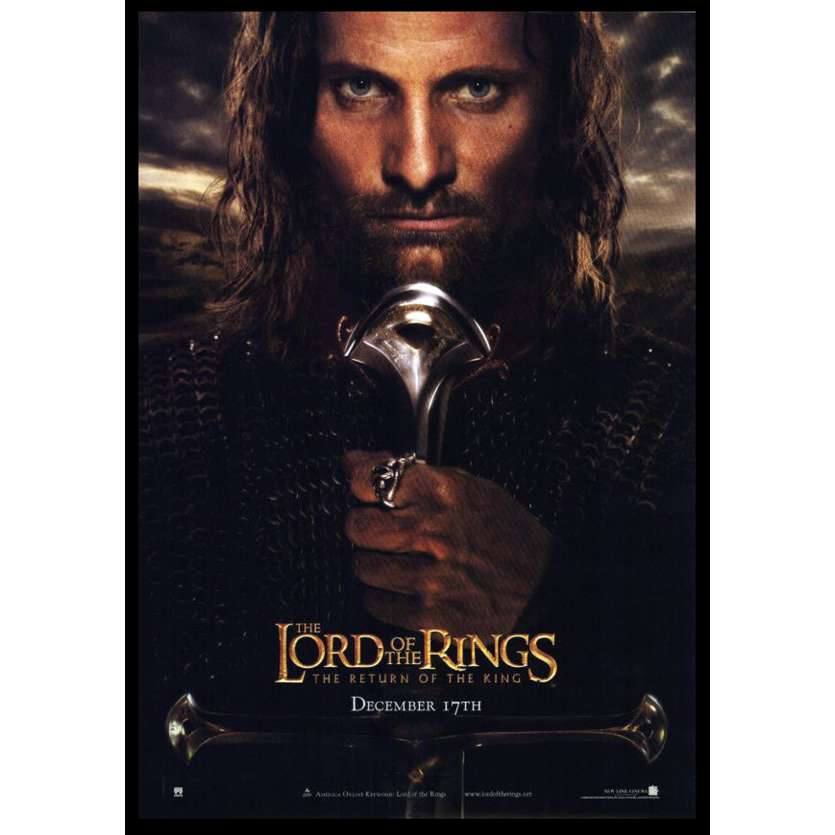 LORD OF THE RINGS: THE RETURN OF THE KING US Movie Poster A 11x17 - 2003 - Peter Jackson, Viggo Mortensen