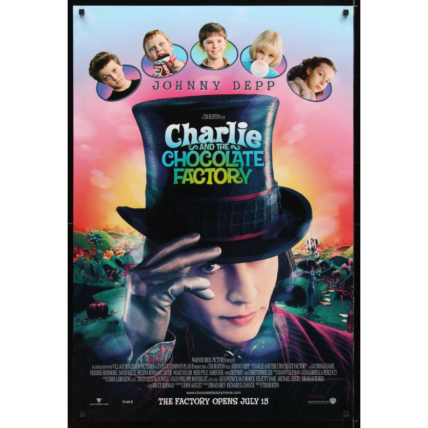 CHARLIE AND THE CHOCOLATE FACTORY Affiche de film 69x104 - 2005 - Johnny Depp, Tim Burton
