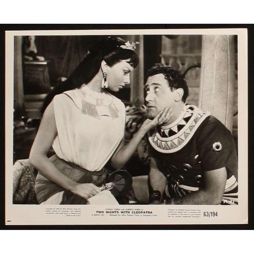 TWO NIGHTS WITH CLEOPATRA US Still 2 8x10 - 1954 - Mario Mattoli, Sophia Loren