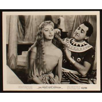 TWO NIGHTS WITH CLEOPATRA US Still 1 8x10 - 1954 - Mario Mattoli, Sophia Loren
