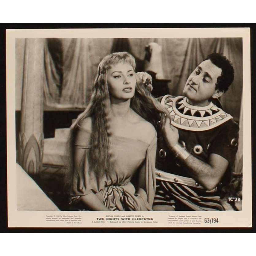 TWO NIGHTS WITH CLEOPATRA US Still 1 8x10 - 1954 - Mario Mattoli, Sophia Loren