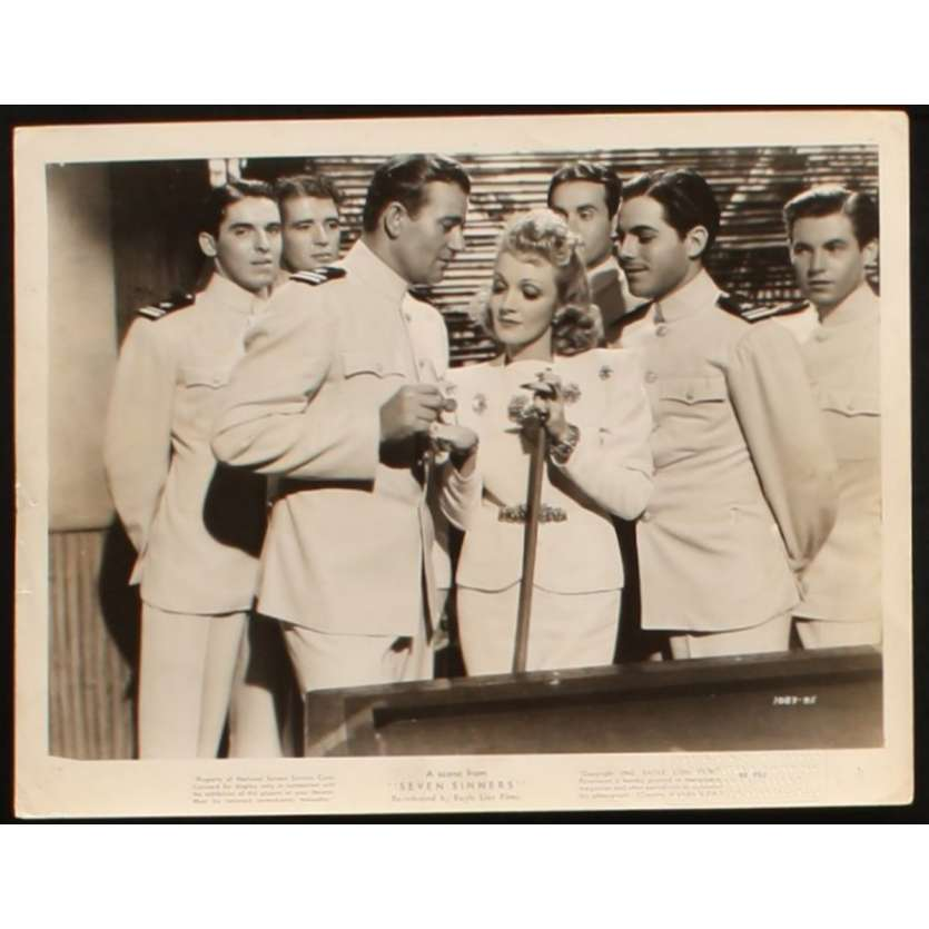SEVEN SINNERS US Still 2 8x10 - 1940 - Tay Garnett, Marlene Dietrich