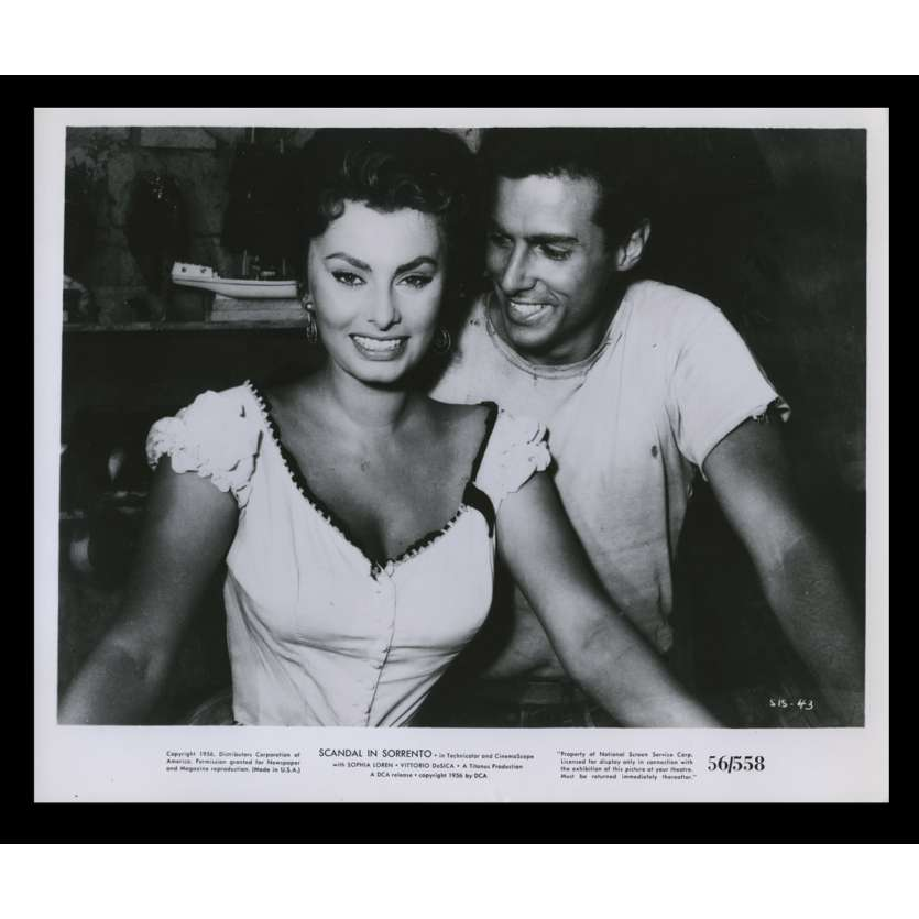 SCANDAL IN SORRENTO US Still 8x10 - 1955 - Dino Risi, Sophia Loren