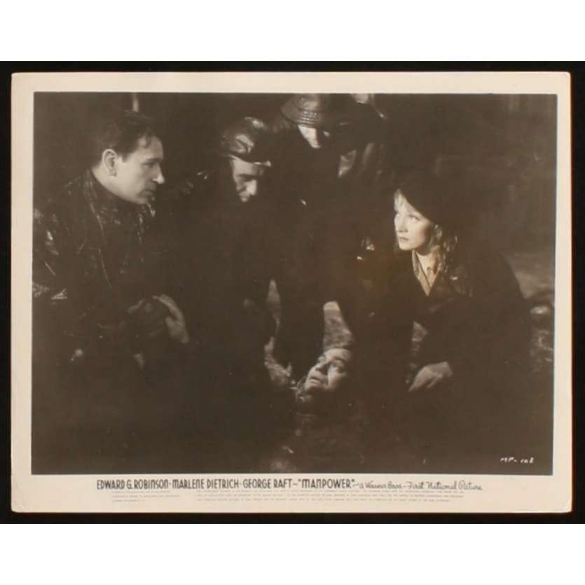 MANPOWER US Still 2 8x10 - 1941 - Raoul Walsh, Marlene Dietrich