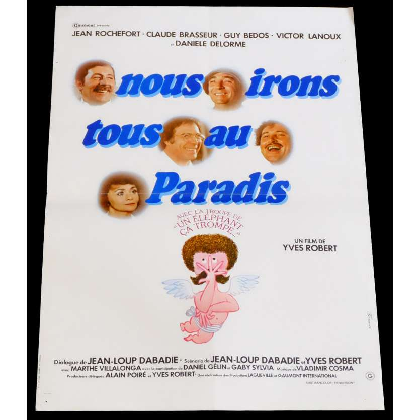 PARDON MON AFFAIRE TOO! French Movie Poster 15x21 - 1977 - Yves Robert, Jean Rochefort