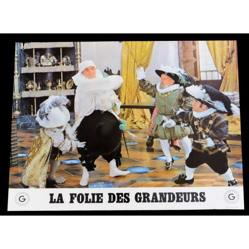 DELUSIONS OF GRANDEUR French Lobby Card 3 9x12 - 1971 - Gerard Oury, Louis de Funes