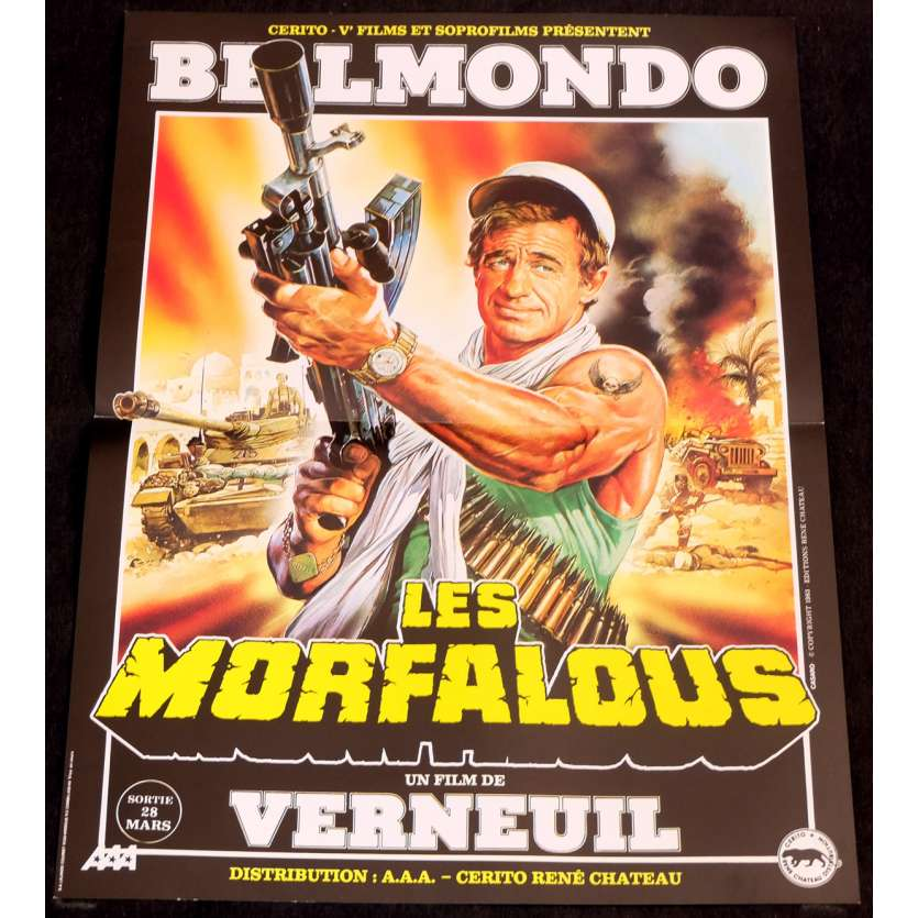 LES MORFALOUS Affiche de film 40x60 - 1984 - Jean-Paul Belmondo, Henri Verneuil