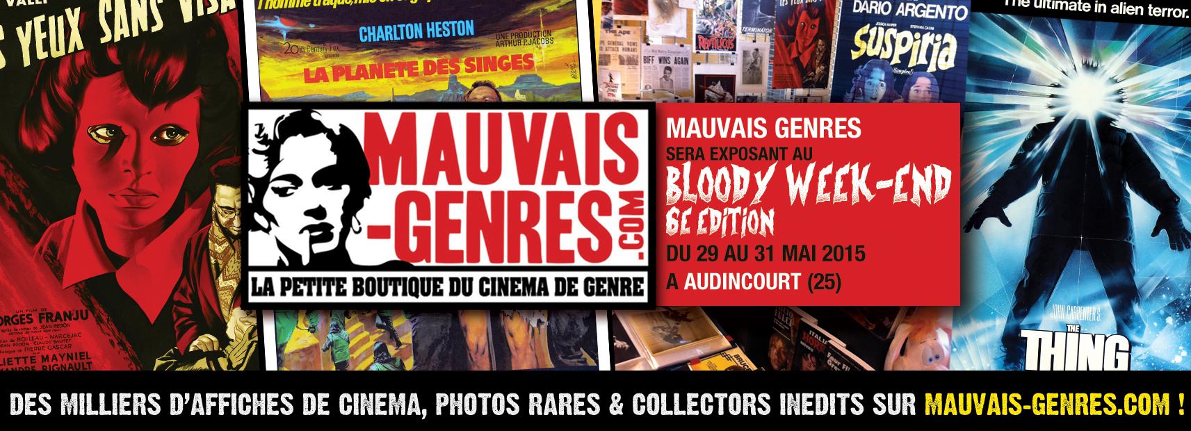 Mauvais Genres sera exposant à la Brocante Cinéma de Lyon