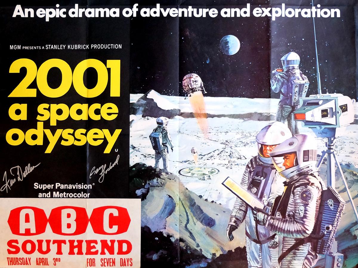 Affiche signée de 2001 L'odyssée de l'espace