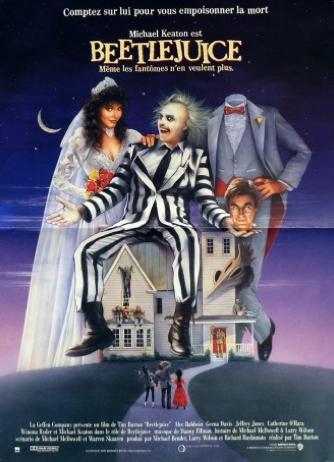 Affiche de film Beetlejuice de Tim Burton