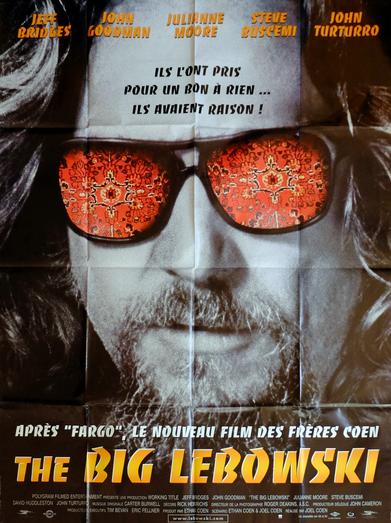 Affiche de film originale française de The Big Lebowski
