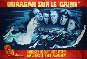 Affiche de Ouragan sur le Caine de René Péron