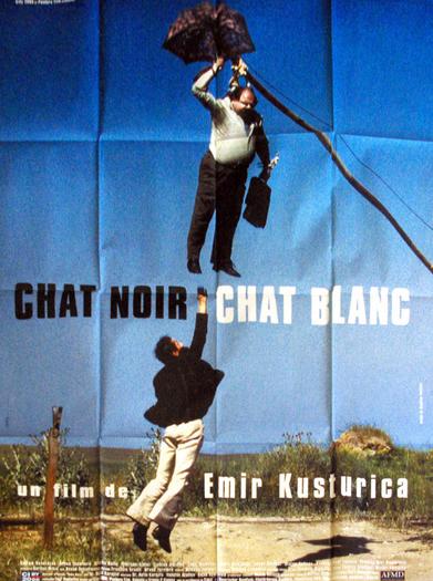 Affiche de film originale française de Chat Noir chat Blanc