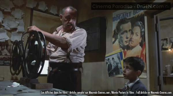 cinema paradiso movie scene with poster