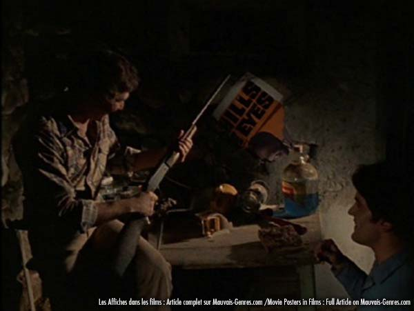 Evil dead movie scene with poster