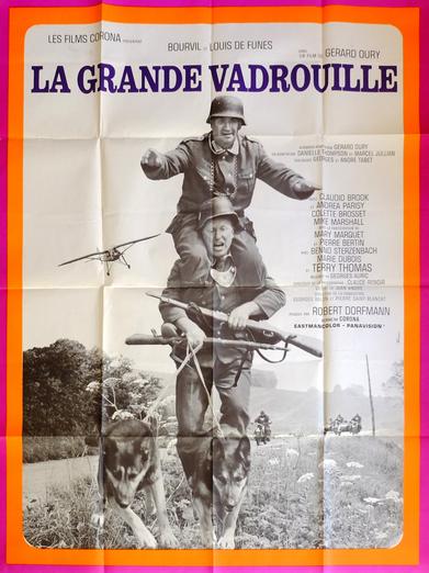 Affiche franàaise roginale de cinéma de la Grande Vadrouille