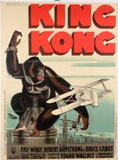 Affiche de King Kong de René Péron