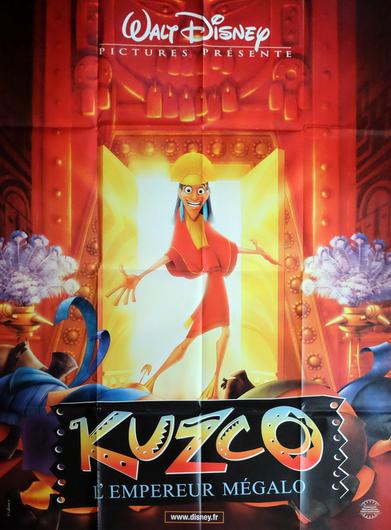 Affiche de film originale française de Kuzco