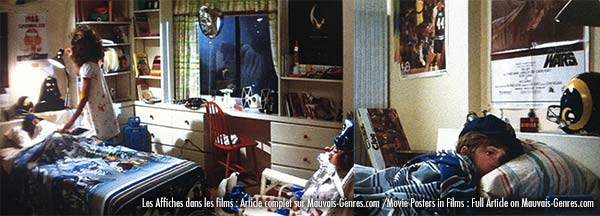 Poltergeist movie scene with posters