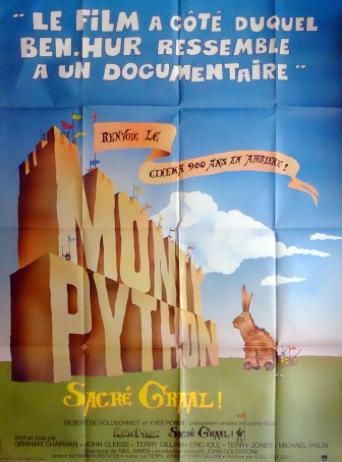 Affiche cinema originale française de Sacré Graal des Monthy Python