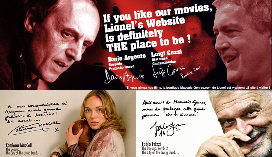 Dario Argento et Luigi Cozzi soutiennent Mauvais Genres !