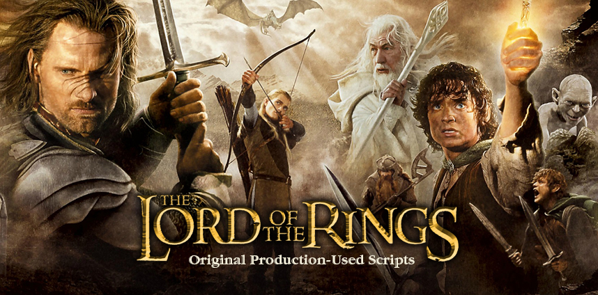 Lord of the Rings Movie Scripts
