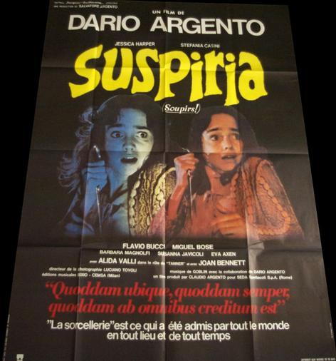 Affiche cinema originale française de Suspiria