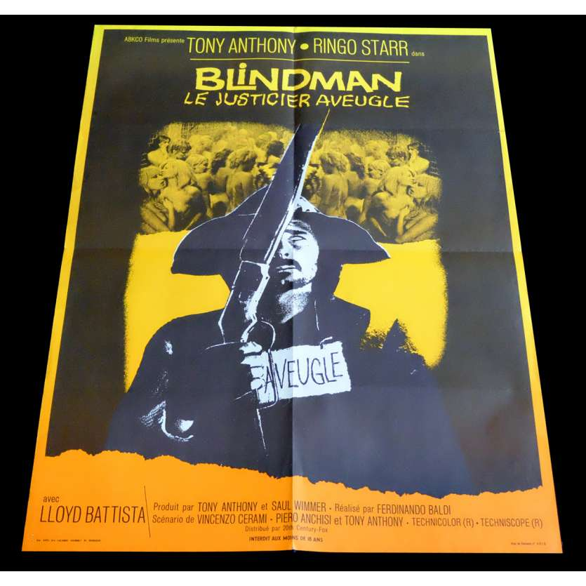 BLINDMAN French Movie Poster 23x32 - 1971 - Ferdinando Baldi, Ringo Starr