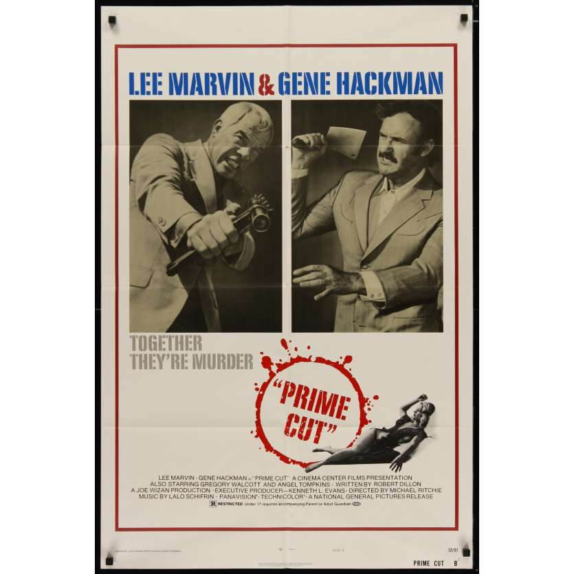 PRIME CUT US Movie Poster 29x41 - 1972 - Michael Ritchie, Lee Marvin