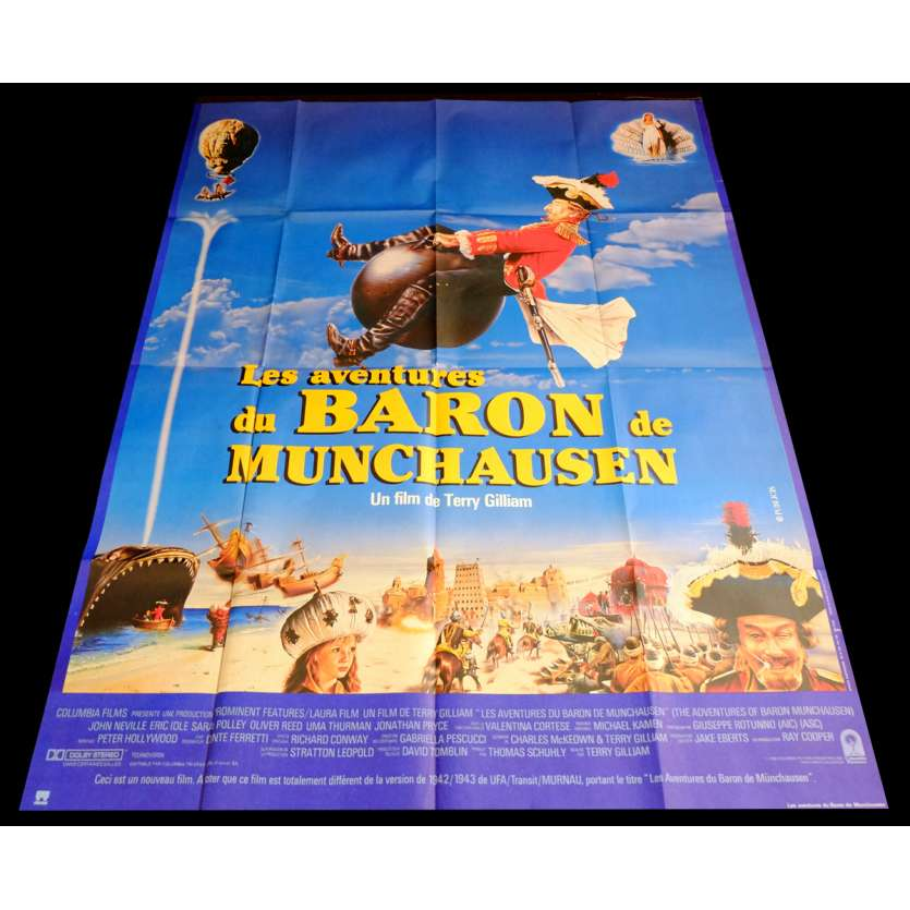 BARON MUNCHAUSEN Affiche de film 120x160 - 1988 - John Neville, Terry Gilliam