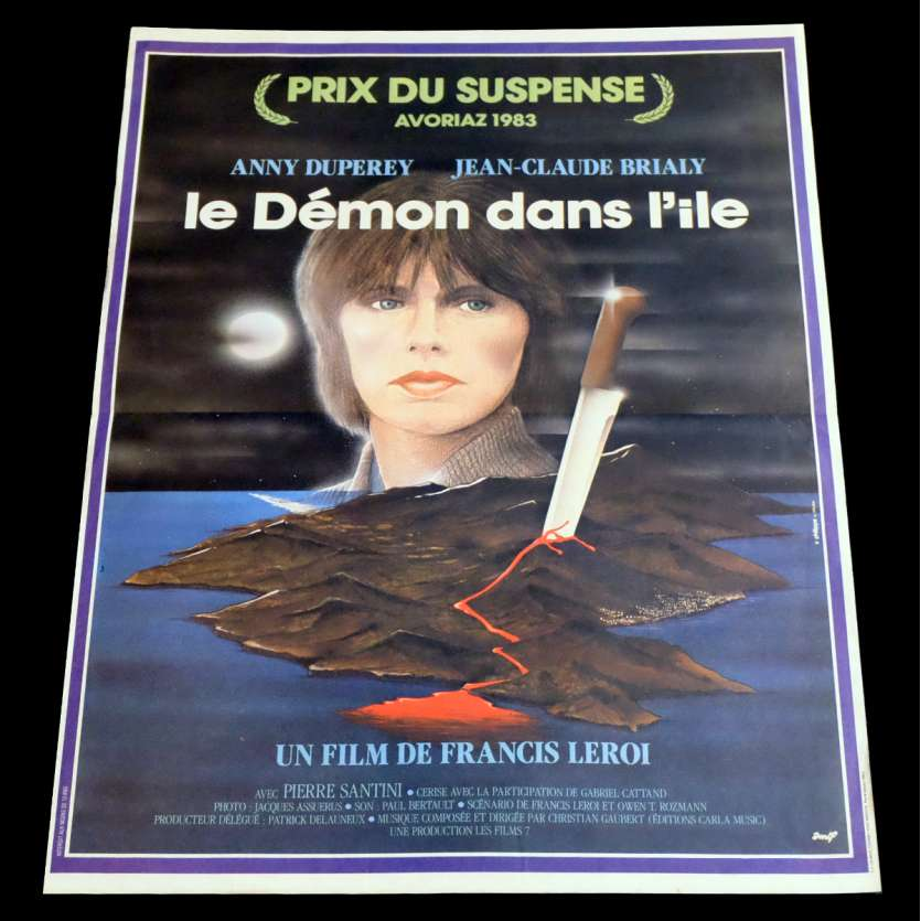DEMON OF THE ISLAND French Movie Poster 15x21 - 1983 - Francis Leroi, Anny Duperey