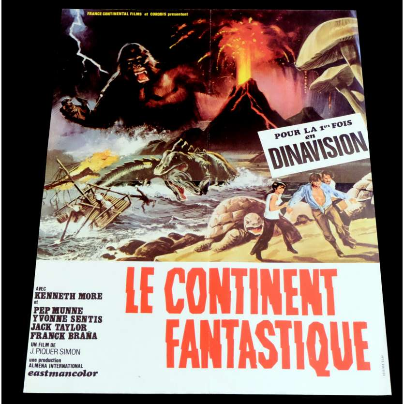 VIAJE AL CENTRO DE LA TIERRA French Movie Poster 15x21 - 1977 - Juan Piquer Simón, Kenneth More