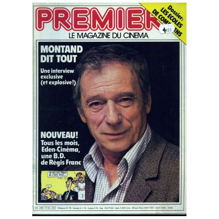 PREMIERE N°53 Magazine - 1981 - Yves Montand