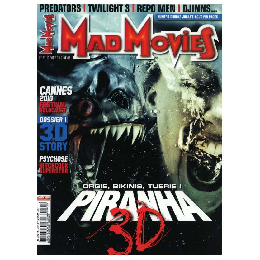 MAD MOVIES N°232 Magazine - 2010 - Piranha 3D
