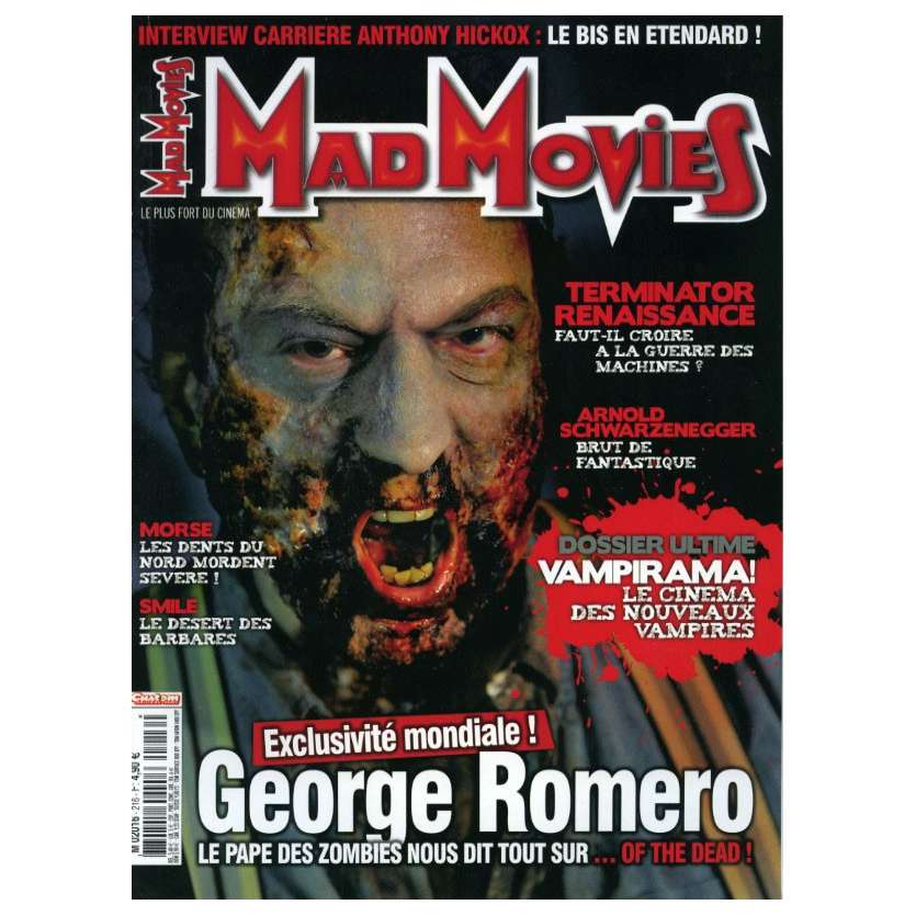 MAD MOVIES N°216 Magazine - 2009 - George Romero