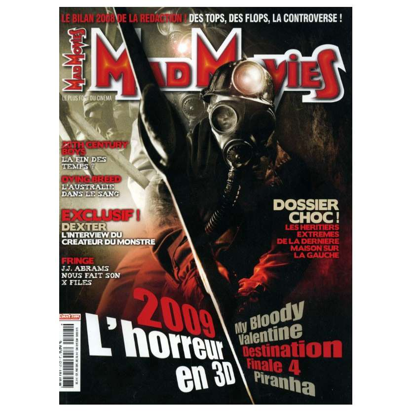 MAD MOVIES N°215 Magazine - 2009 - L'horreur en 3D