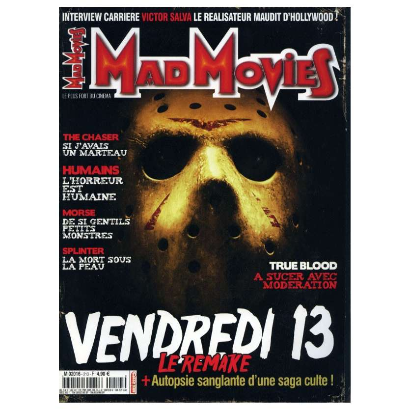 MAD MOVIES N°213 Magazine - 2008 - Vendredi 13