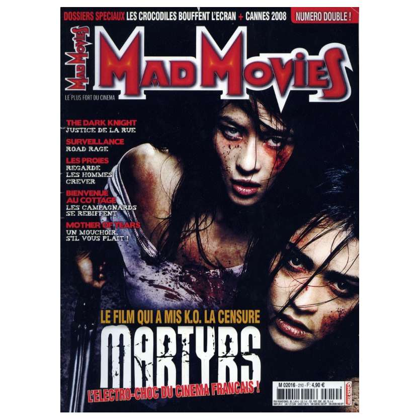 MAD MOVIES N°210 Magazine - 2008 - Martyrs