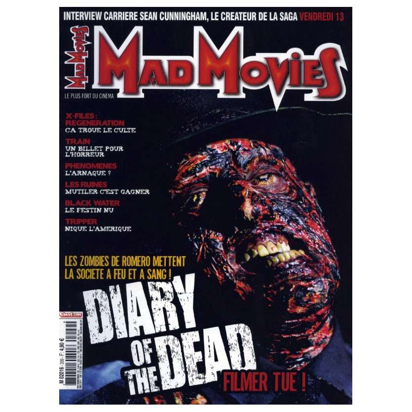 MAD MOVIES N°209 Magazine - 2008 - Diary of the Dead