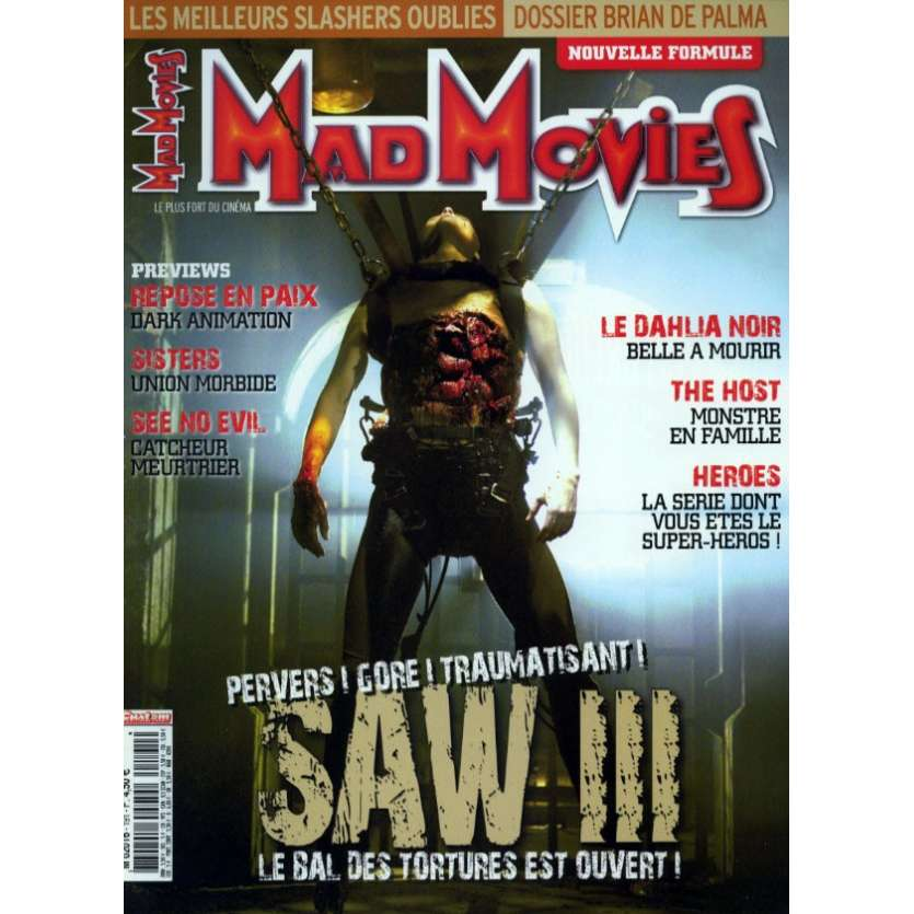 MAD MOVIES N°191 Magazine - 2006 - Saw III