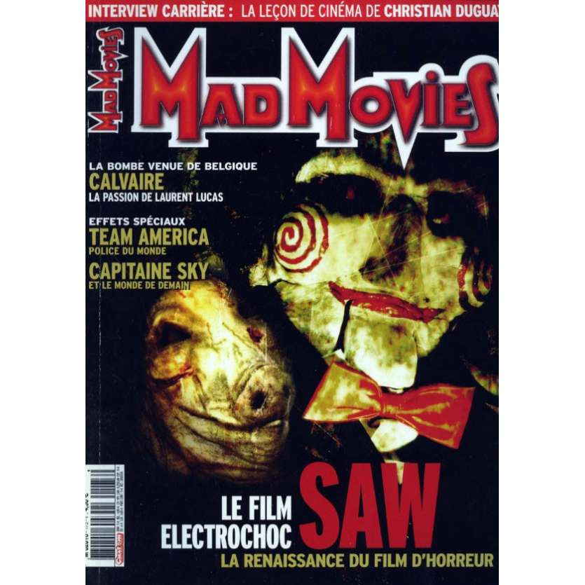MAD MOVIES N°173 Magazine - 2005 - Saw