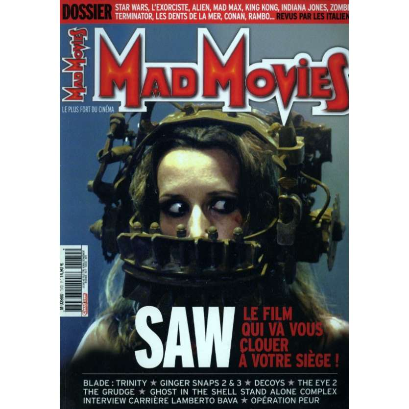 MAD MOVIES N°170 Magazine - 2004 - Saw